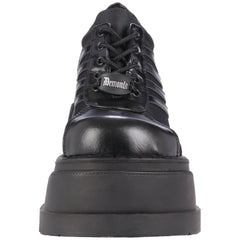 DEMONIA STOMP-08 BLACK CHUNKY PLATFORM SHOES - Shoecup.com - 2