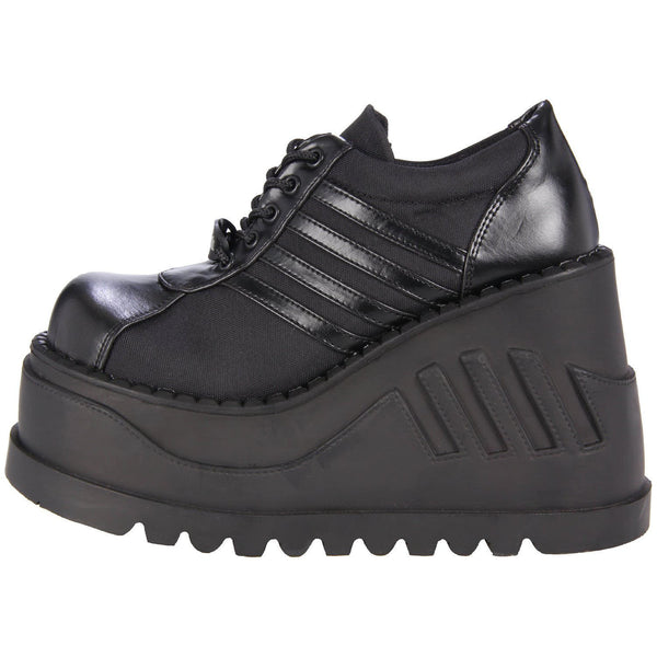 DEMONIA STOMP-08 BLACK CHUNKY PLATFORM SHOES - Shoecup.com - 6