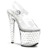 PLEASER STARDUST-758 Clear Ankle Strap Sandals - Shoecup.com