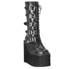 Demonia,DEMONIA SWING-220 Black Pu Vegan Boots - Shoecup.com