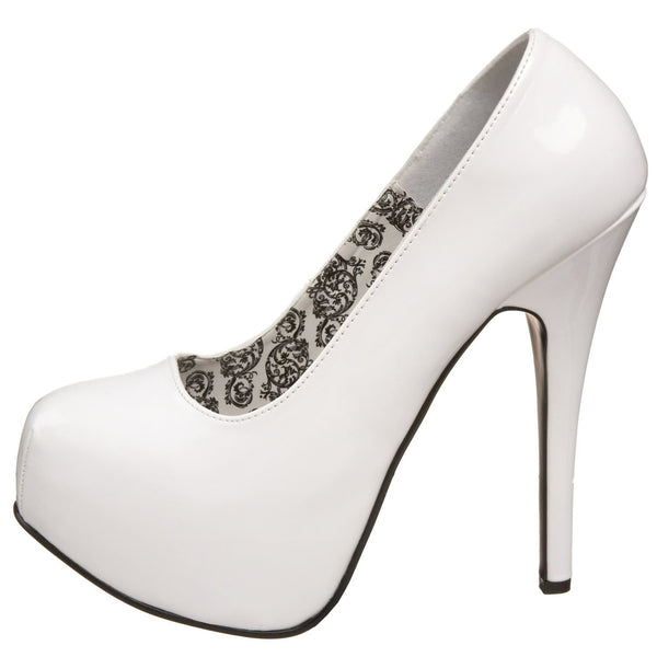 Bordello,Bordello TEEZE-06 White Pat Pumps - Shoecup.com
