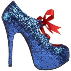 Bordello,Bordello TEEZE-10G Blue Glitter Pumps - Shoecup.com