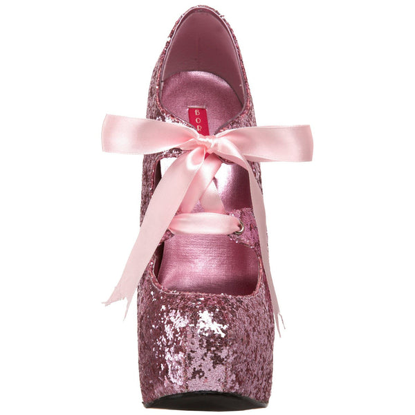 Bordello,Bordello TEEZE-10G Baby Pink Glitter Pumps - Shoecup.com