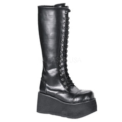 Demonia,DEMONIA TRASHVILLE-502 Men's Black Pu Vegan Boots - Shoecup.com