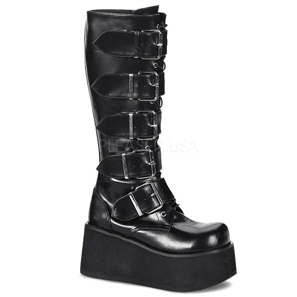 Demonia,DEMONIA TRASHVILLE-518 Men's Black Pu Vegan Boots - Shoecup.com