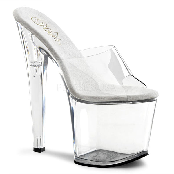PLEASER TABOO-701 Clear Platform Slides - Shoecup.com