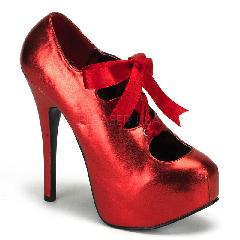Bordello,Bordello TEEZE-09 Red Met Pu Pumps - Shoecup.com