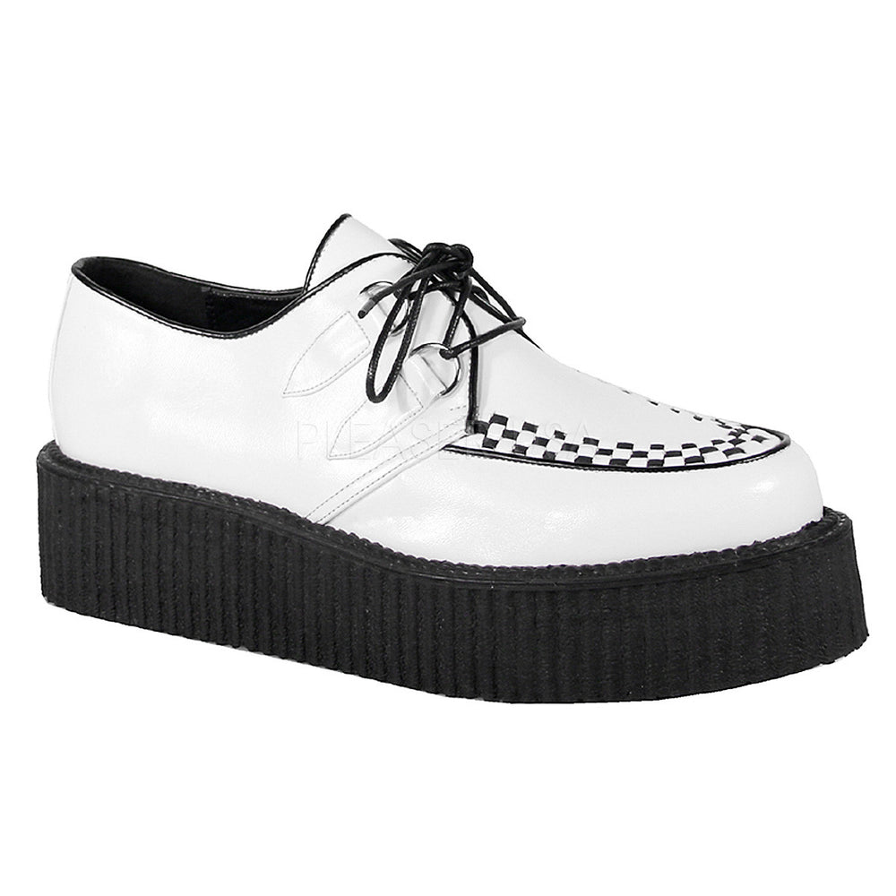 DEMONIA V-CREEPER-502 Men's White Pu Creepers