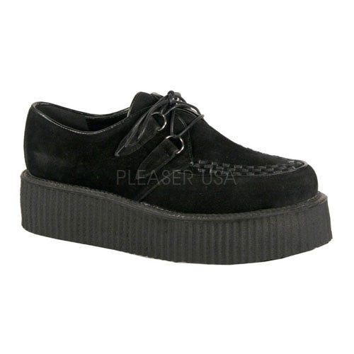 DEMONIA V-CREEPER-502S Men's Black Veggie Suede Creepers - Shoecup.com - 1