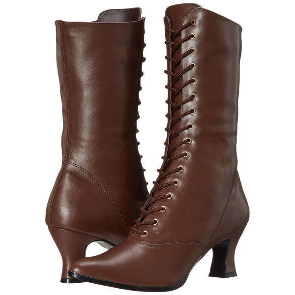 FUNTASMA VICTORIAN-120 Brown Pu Boots - Shoecup.com - 7
