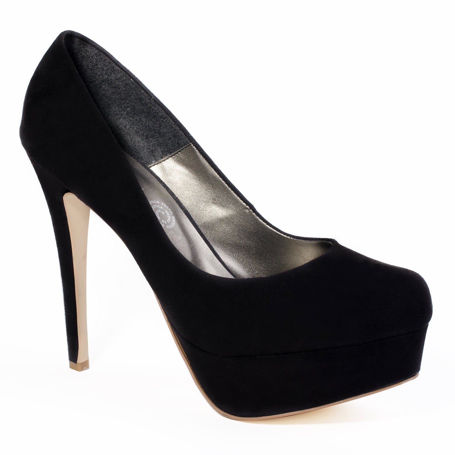 "6"" Heel Black High Heel Pumps For Men 