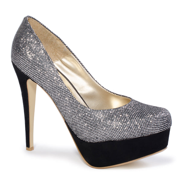"6"" Heel Dark Silver High Heel Pumps For Men 