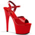 PLEASER ADORE-709 Red-Red Ankle Strap Sandals - Shoecup.com