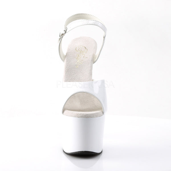 PLEASER ADORE-709 White Ankle Strap Sandals - Shoecup.com - 2