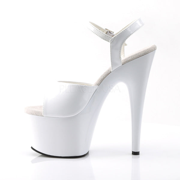 PLEASER ADORE-709 White Ankle Strap Sandals - Shoecup.com - 3