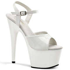 PLEASER ADORE-709 White Ankle Strap Sandals - Shoecup.com - 1