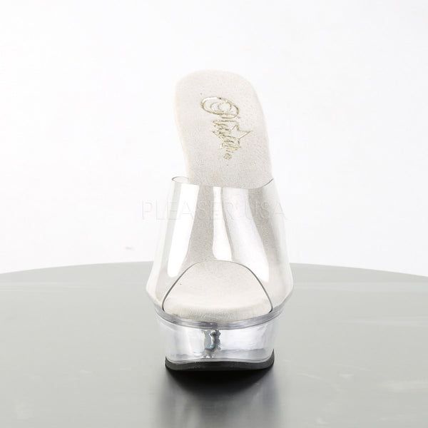 PLEASER ALLURE-601 Clear Stiletto Sandals - Shoecup.com - 2