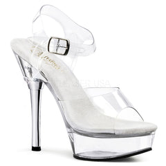 PLEASER ALLURE-608 Clear Stiletto Sandals - Shoecup.com - 1