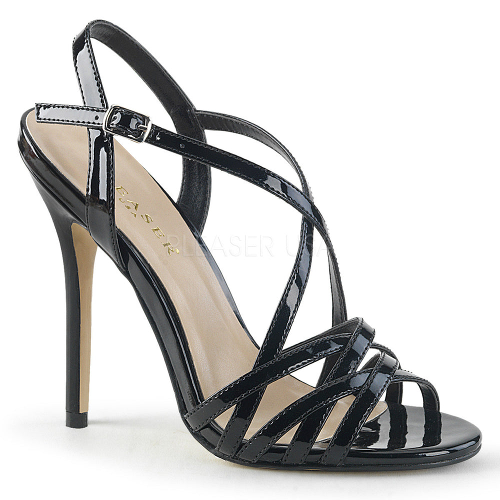 "5"" Heel AMUSE-13 Black Pat"