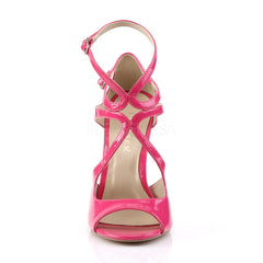 PLEASER AMUSE-15 Hot Pink Pat Strap Sandals - Shoecup.com - 2