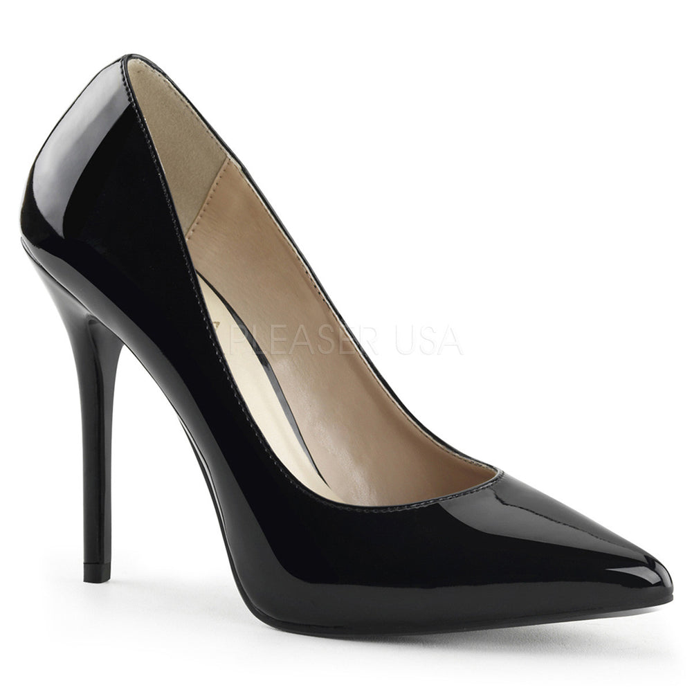 PLEASER AMUSE-20 Black Pat Pumps