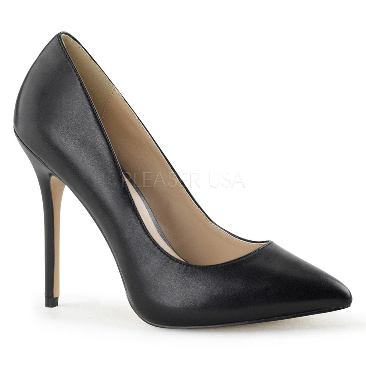 PLEASER AMUSE-20 Black Pu Pumps - Shoecup.com - 1