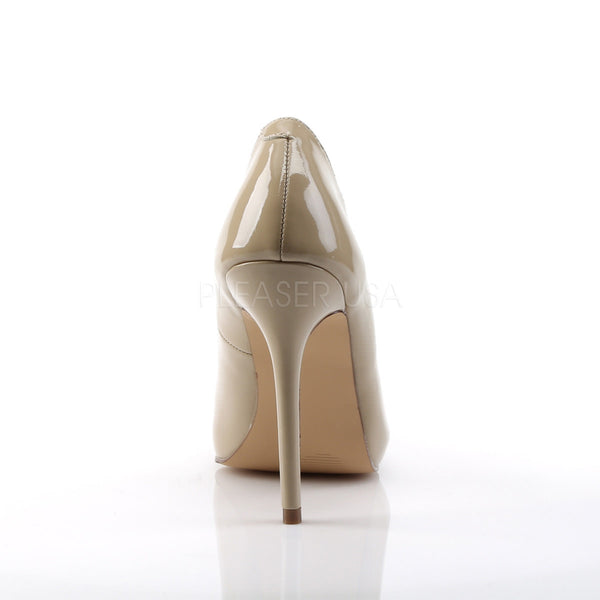 PLEASER AMUSE-20 Cream Pat Pumps
