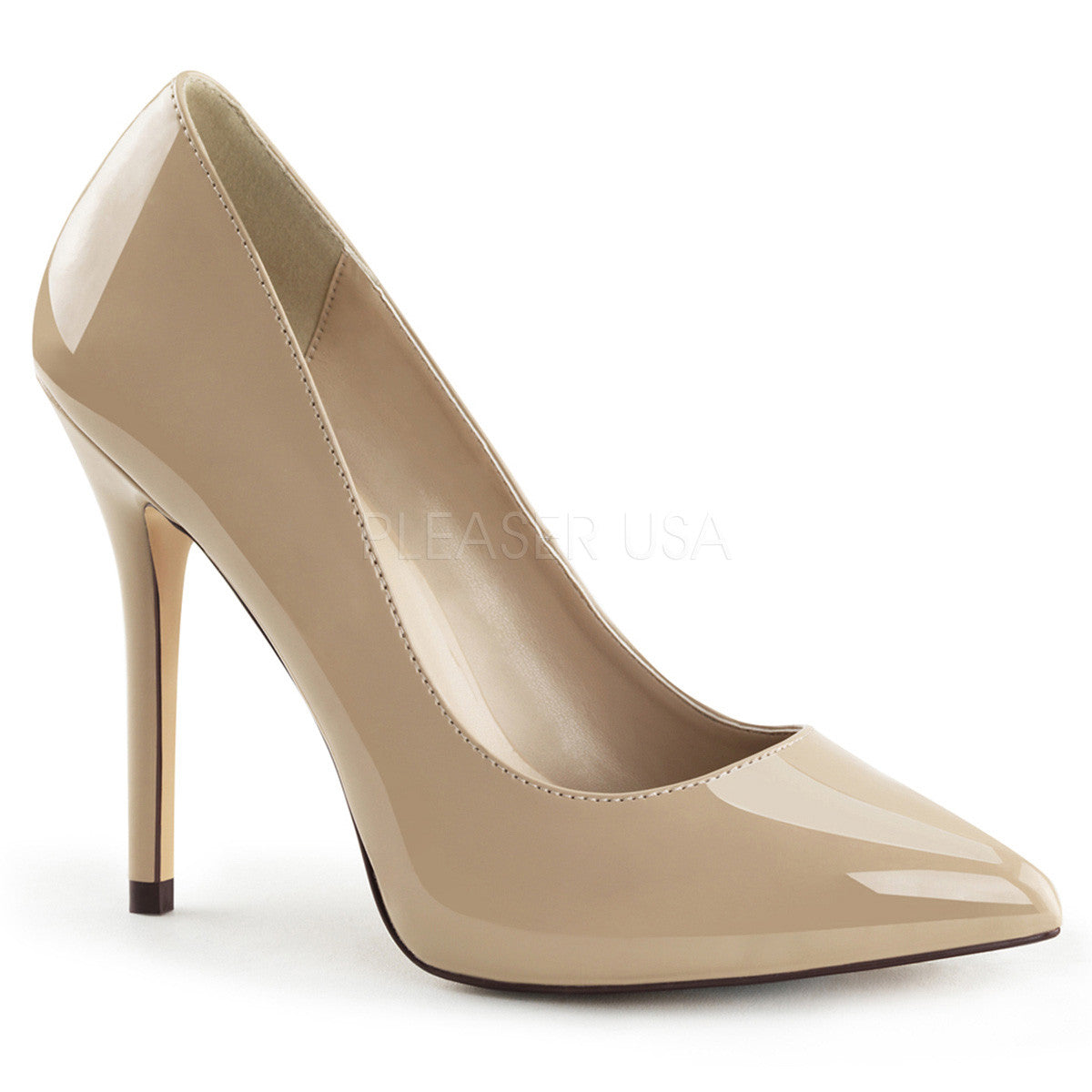 PLEASER AMUSE-20 Cream Pat Pumps - Shoecup.com