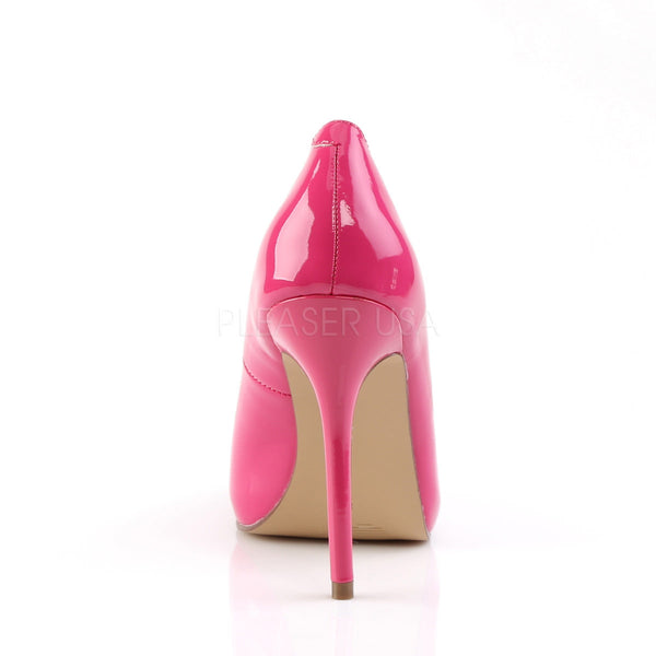 PLEASER AMUSE-20 Hot Pink Pat Pumps - Shoecup.com - 4