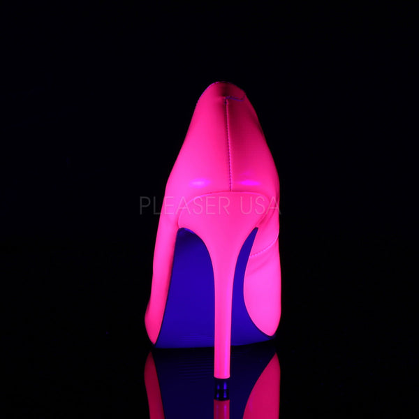 PLEASER AMUSE-20 Neon Fuchsia Pat Pumps - Shoecup.com - 4