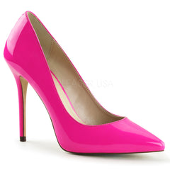 PLEASER AMUSE-20 Neon Fuchsia Pat Pumps - Shoecup.com - 1
