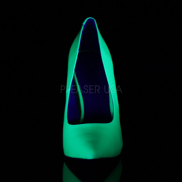 PLEASER AMUSE-20 Neon Green Pumps - Shoecup.com - 2