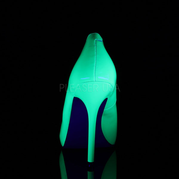 PLEASER AMUSE-20 Neon Green Pumps - Shoecup.com - 4