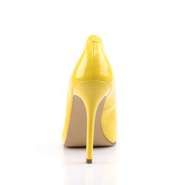 PLEASER AMUSE-20 Neon Yellow Pat Pumps - Shoecup.com - 4