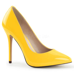 PLEASER AMUSE-20 Neon Yellow Pat Pumps - Shoecup.com - 1