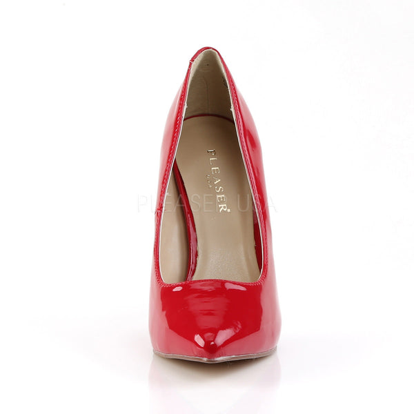 PLEASER AMUSE-20 Red Pat Pumps - Shoecup.com - 2