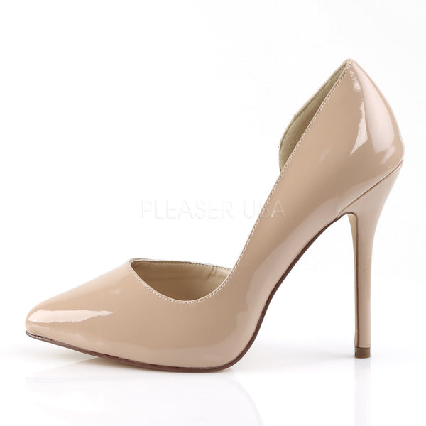 Pleaser AMUSE-22 Nude Patent D'Orsay Pumps - Shoecup.com - 3