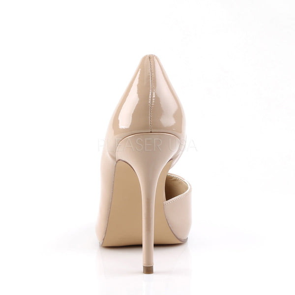 Pleaser AMUSE-22 Nude Patent D'Orsay Pumps - Shoecup.com - 4