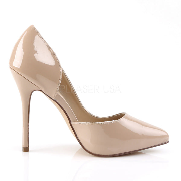 Pleaser AMUSE-22 Nude Patent D'Orsay Pumps