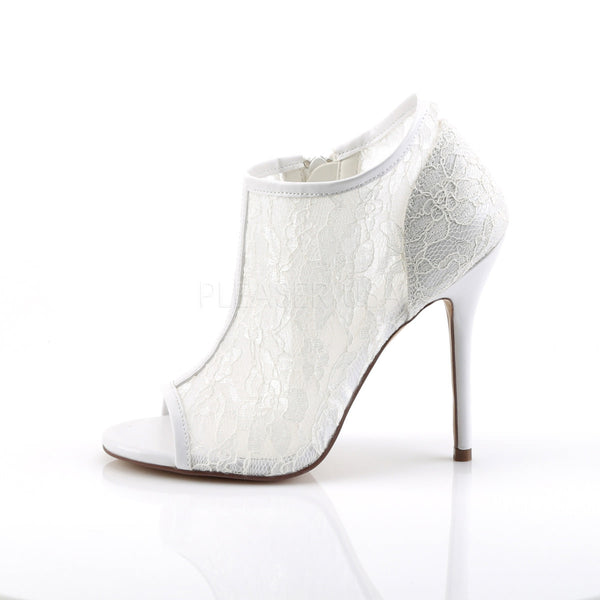 FABULICIOUS AMUSE-56 Ivory Lace-Mesh Ankle Boots - Shoecup.com - 3