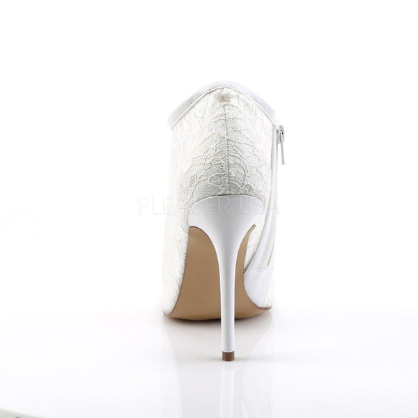 FABULICIOUS AMUSE-56 Ivory Lace-Mesh Ankle Boots - Shoecup.com - 4