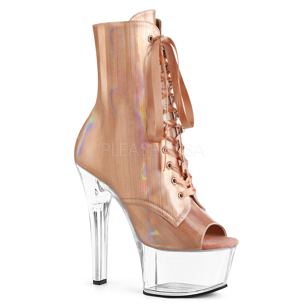 "6"" Heel ASPIRE-1021BHG Rose Gold  Brushed Hologram"