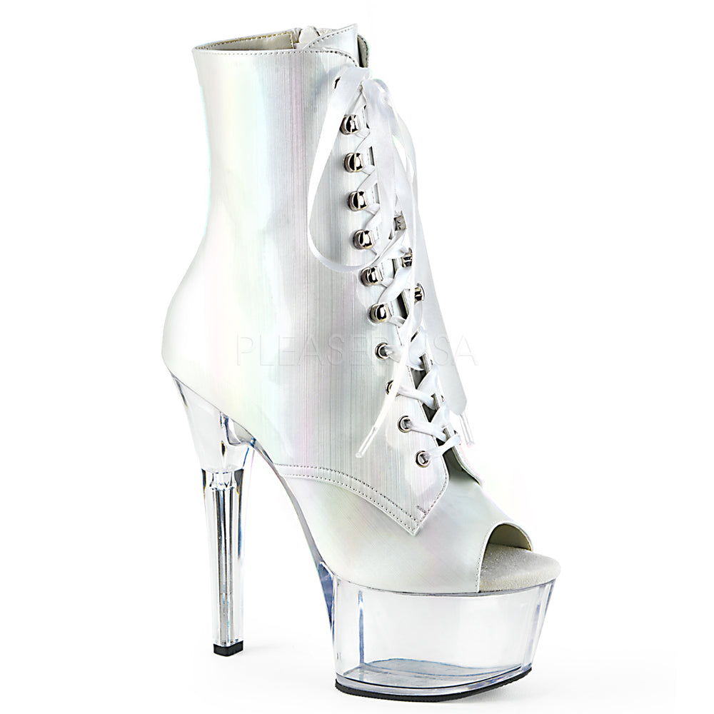 "6"" Heel ASPIRE-1021BHG White Hologram"
