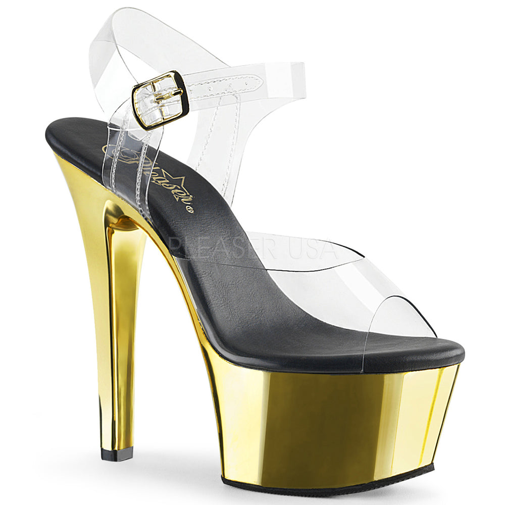 "6"" Heel ASPIRE-608 Gold Chrome"