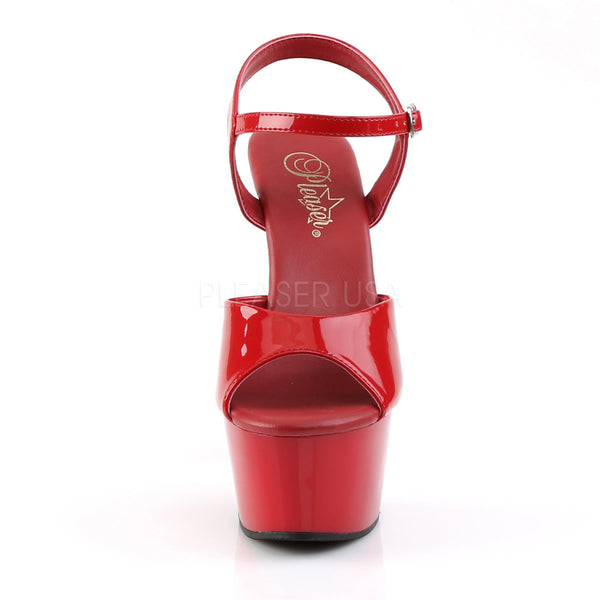Pleaser ASPIRE-609 Red Ankle Strap Sandals - Shoecup.com - 2