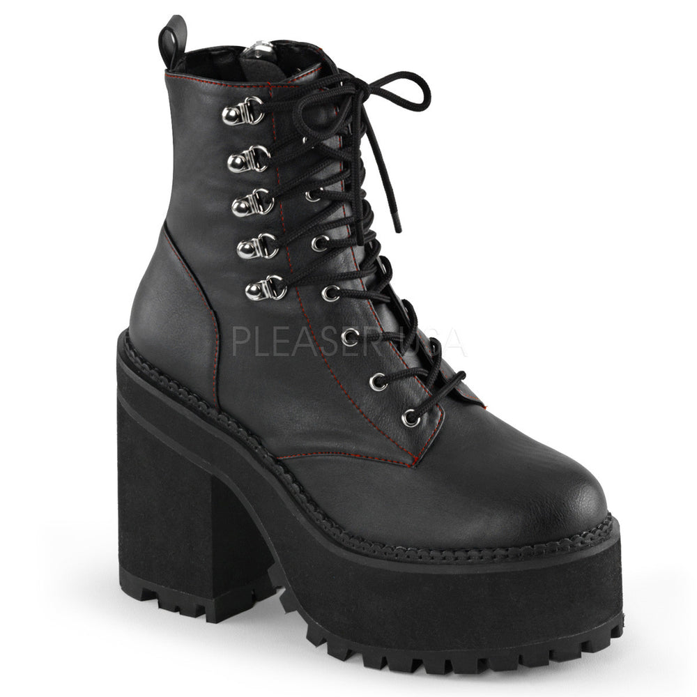 Demonia ASSAULT-100 Black Leather Boots