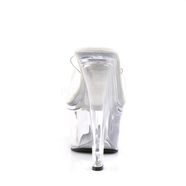 PLEASER BEAU-601 Clear Wedges - Shoecup.com - 4