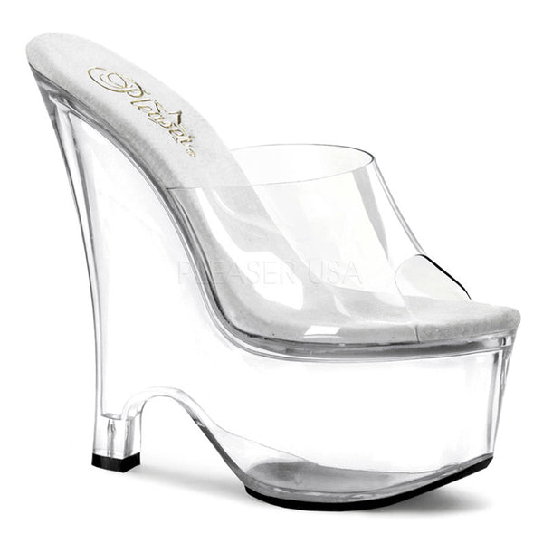 PLEASER BEAU-601 Clear Wedges - Shoecup.com - 1