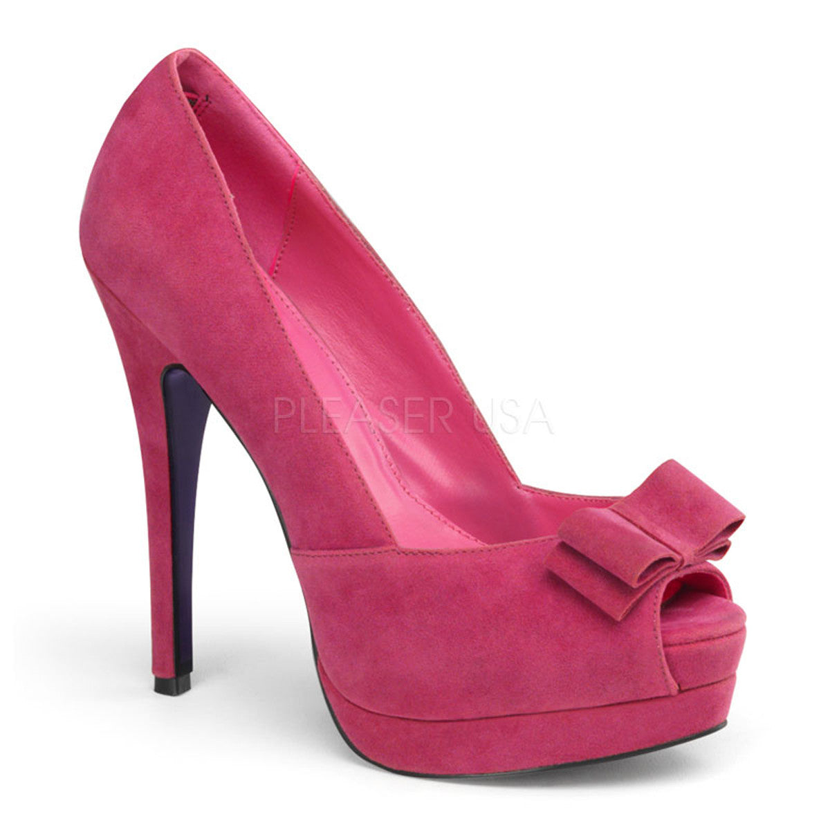Pin Up Couture Couture Couture BELLA 10 Fuchsia Sueded Pu Peep Toe Pumps 4b90c6