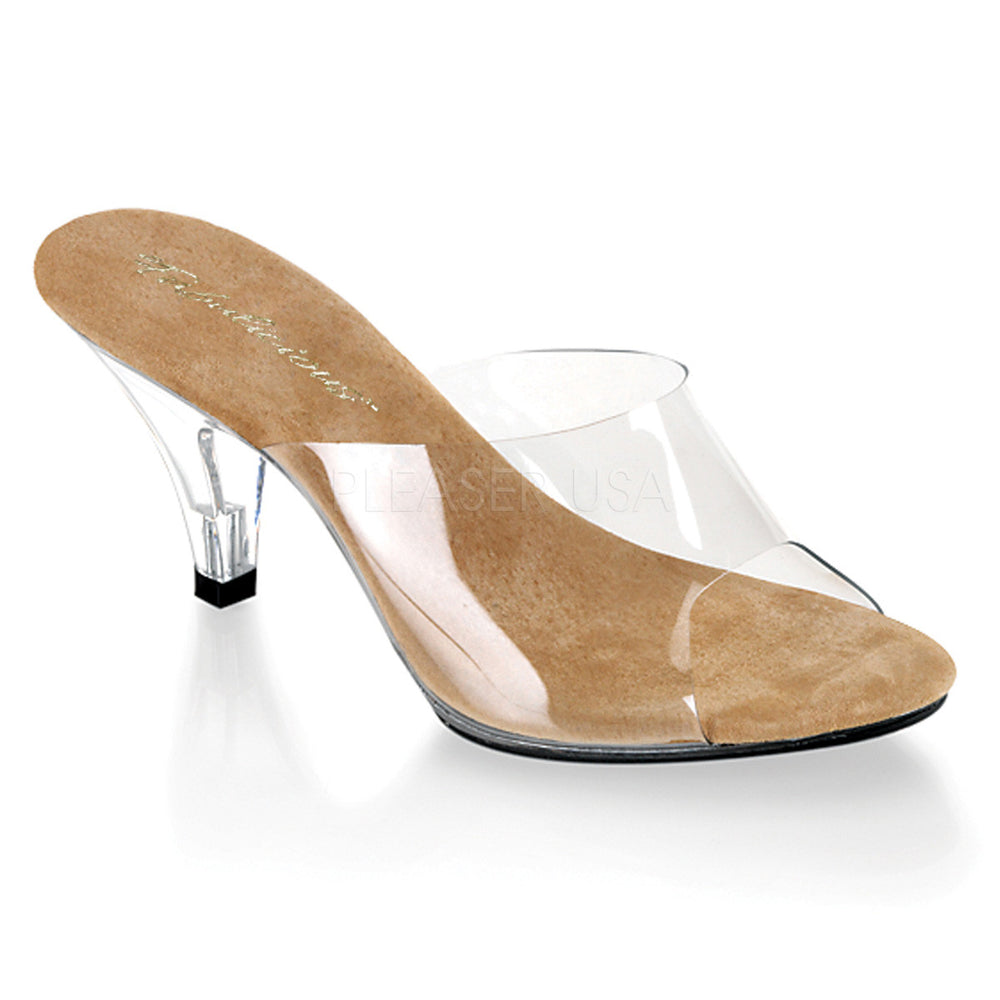 Fabulicious BELLE-301 Clear-Tan Sandals